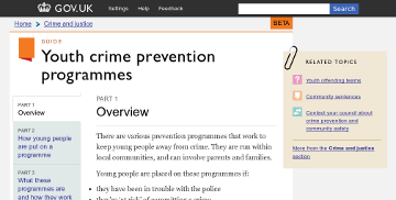 Youth crime prevention programmes